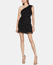 BCBGMAXAZRIA Ruffled One-Shoulder Dress