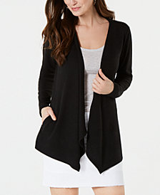 Style & Co Handkerchief-Hem Open-Front Cardigan, Created for Macy's