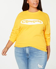 Love Tribe Trendy Plus Size Cotton Clueless-Graphic T-Shirt