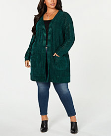 Say What? Plus Size Ribbed Completer Sweater