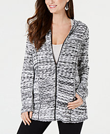 Style & Co Spacedyed Zip Hoodie, Created for Macy's