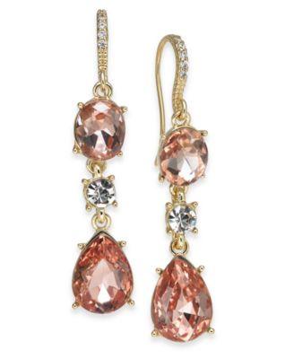 Crystal Triple Drop Earrings, Created for Macy's