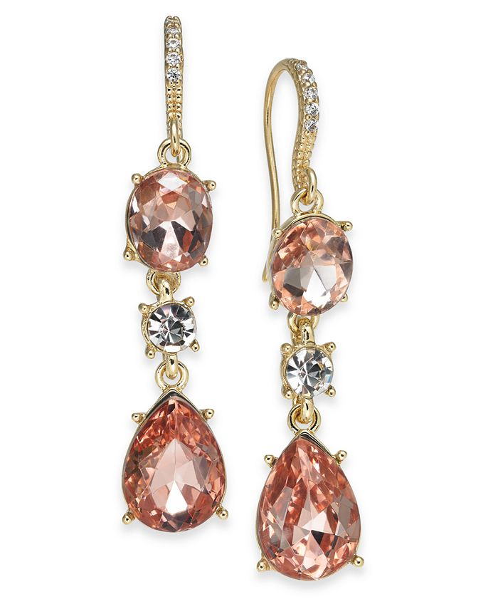 Charter Club - Crystal Triple Drop Earrings