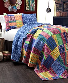 Misha 3-Pc Set Full/Queen Quilt Set