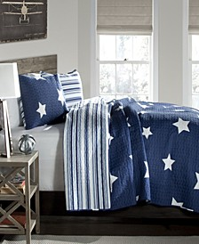 Star 3-Pc Set Full/Queen Quilt Set