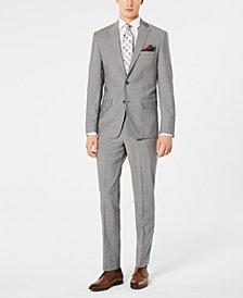 DKNY Men's Modern-Fit Stretch Light Gray Suit Separates