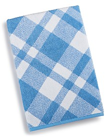 "Charter Club Plaid Cotton 30"" x 56"" Bath Towel, Created for Macy's"