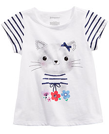 First Impressions Baby Girls Kitty-Print T-Shirt, Created for Macy's