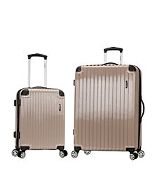 "Rockland Santorini 20"", 28"" 2-Piece Expandable Polycarbonate Spinner Set"