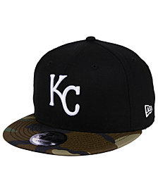 New Era Kansas City Royals Woodland Black/White 9FIFTY Snapback Cap