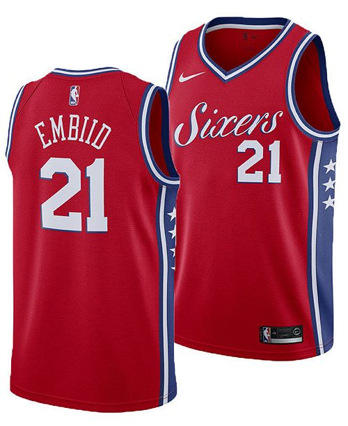 9da26500a ... Nike Joel Embiid Philadelphia 76ers Statement Swingman Jersey, Big Boys  (8-20) ...