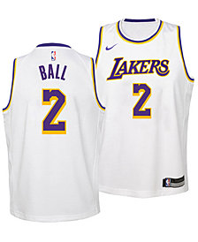 Nike Lonzo Ball Los Angeles Lakers Association Swingman Jersey, Big Boys (8-20)
