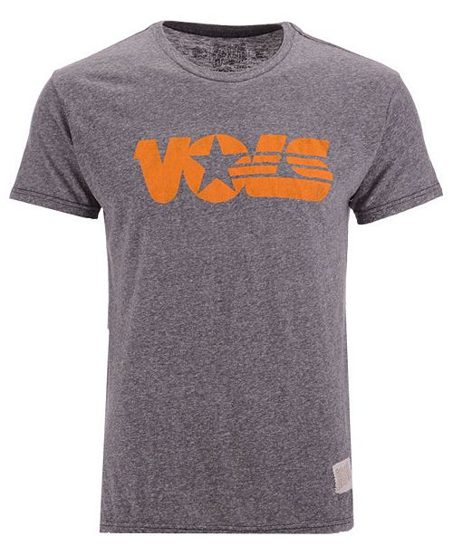 Retro Brand Men's Tennessee Volunteers Retro Logo Tri-blend T-Shirt
