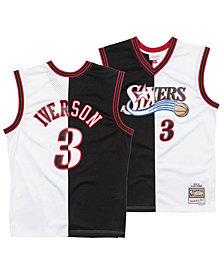 Mitchell & Ness Men's Allen Iverson Philadelphia 76ers Split Swingman Jersey