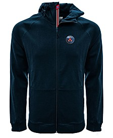 Level Wear Men's Paris Saint-Germain Club Team Fortress Banner Full-Zip Hoodie