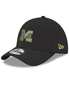 New Era Michigan Wolverines Black Pop Flex 39THIRTY Stretch Fitted Cap