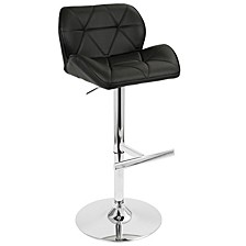 Jubilee Adjustable Barstool with Swivel in Faux Leather