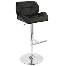 Lumisource Jubilee Adjustable Barstool with Swivel in Faux Leather
