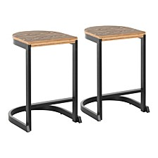 Industrial Demi Counter Stool Set of 2