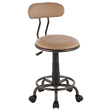 Swift Task Chair in Metal and Light Faux Leather