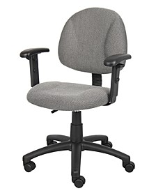 Deluxe Posture Chair W/ Adjustable Arms