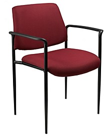 Diamond Square Back Stacking Chair W/Arm
