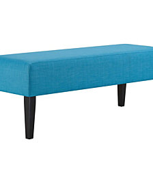 Modway Connect Upholstered Fabric Bench in Stripe
