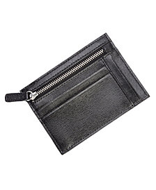 Royce RFID Blocking Slim Card Case Wallet in Saffiano Leather