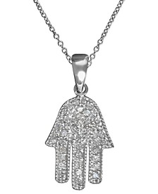 EFFY® Diamond Hamsa Pendant (1/4 ct. t.w.) in 14k White Gold