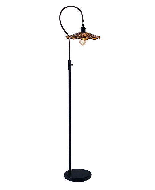 Dale Tiffany Burnt Sienna Floor, Torchiere Lamp