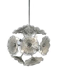 Dale Tiffany Almond 6-Light Art Glass Hanging Fixture