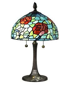 Dale Tiffany Crimson Rosette Tiffany Table Lamp