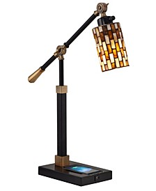 Myriad Mosaic Desk Lamp With Wireless, Usb Charger