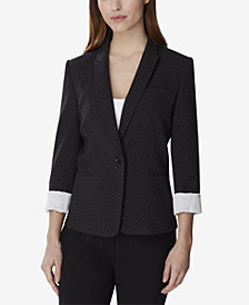 Tahari ASL Textured Pin-Dot Blazer, Regular & Petite