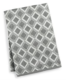 "Hotel Collection Tile Diamond Cotton 30"" x 56"" Bath Towel, Created for Macy's"