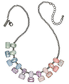"I.N.C. Hematite-Tone Multi-Stone Statement Necklace, 19"" + 3"" extender, Created for Macy's"