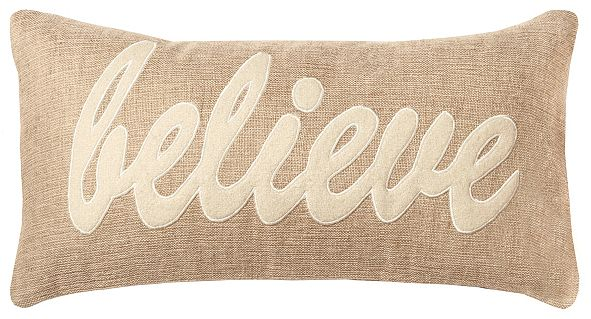 """Rizzy Home 11"""" x 21"""" Typography Pillow Cover"""