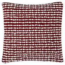 """Rizzy Home 20"""" x 20"""" Striped Textured Pillow Cover"""