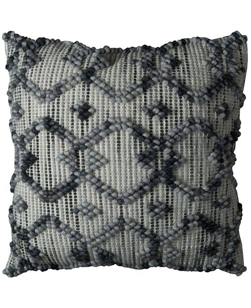 """Rizzy Home 20"""" x 20"""" Diamond Pattern Pillow Cover"""