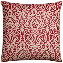 """Rizzy Home 22"""" x 22"""" Damask Pillow Cover"""