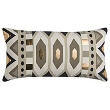 "Rachel Kate 11"" x 21"" Geometrical Design Pillow Cover"