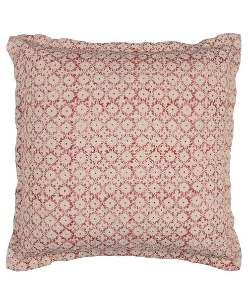 """Rizzy Home 22"""" x 22"""" Ditsy Pillow Cover"""