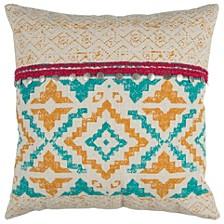 "22"" x 22"" Geometrical Design Pillow Cover"