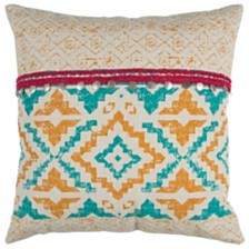 "Rizzy Home 22"" x 22"" Geometrical Design Pillow Cover"