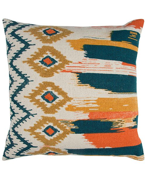 """Rizzy Home 20"""" x 20"""" Striped Pillow Cover"""