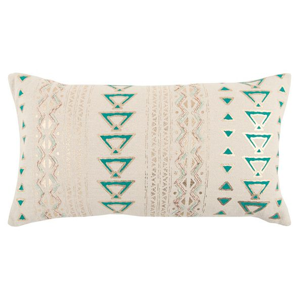 "Rizzy Home 14"" x 26"" Geometrical Design Pillow Cover"