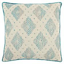 """22"""" x 22"""" Woven Diamond Pillow Cover"""