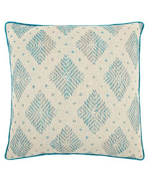 """Rizzy Home 22"""" x 22"""" Woven Diamond Pillow Cover"""