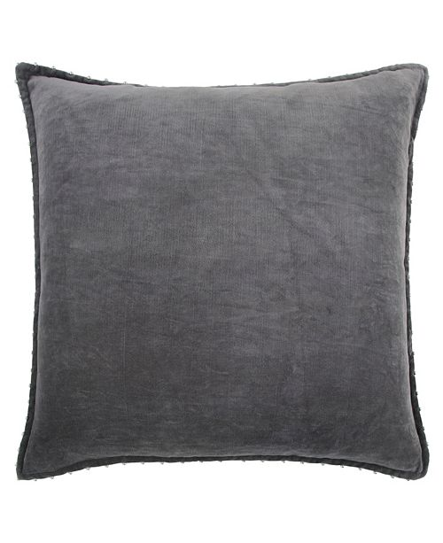 "Rizzy Home Solid 22"" x 22"" Pillow Cover"