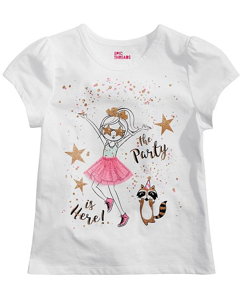 fd342e8a Epic Threads Little Girls Party is Here Graphic T-Shirt, Created for Macy's